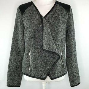 a.n.a Womens Blazer Open Front Jacket Size L